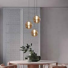 zmh led pendelleuchte pendelleuchte esstisch pendelle höhenverstellbar kronleuchter hängeleuchte 3 flammig aus glas küchen wohnzimmerle