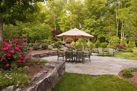 Backyard. Amazing Back Yard Patio Ideas: Glamorous Green Round ... Backyard Design Upgrades Pool Tropical With Coping Silk 11 Ways To Upgrade Your Mental Floss Nextlevel Outdoor Makeover Of A Bare Lifeless Best 25 Cheap Backyard Ideas On Pinterest Solar Lights 20 Yard Landscaping Ideas For Front And Small Spaces We Love Bob Vila Greek Escape Video Diy Budget Patio Easy 5 Cool Prefab Sheds You Can Order Right Now Curbed 50 Designs In 2017 36 Best Images About Faux Stone Landscape Se Wards Management