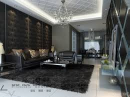 Black Feature Wall Living Room Wallpaper Ideas For