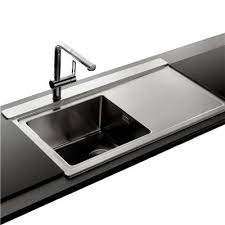 evier cuisine 1 bac 320 évier inox lisse apell osiris 1 bac avec égouttoir à droite 2
