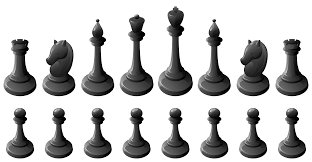 Black Chess Pieces PNG Clipart