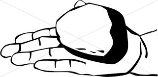 Hand Offers A Rock