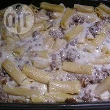 recette gratin de pâtes à la viande hachée et béchamel toutes