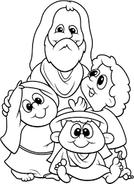 Jesus Love Me And All The Children In World Coloring Page