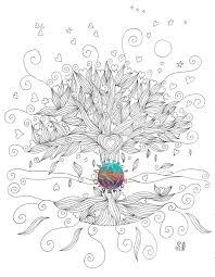 Tree Coloring Page Inside Of Life Pages