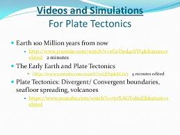 Sea Floor Spreading Animation Youtube by Earth Unit Powerpoint