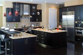 Modern Black Kitchen Cabinets Alluring Decor Beautiful Dark