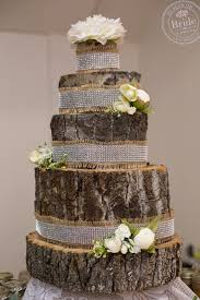 A Fake Wedding Cake Made Of Logs