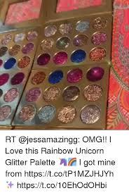I Love This Rainbow Unicorn Glitter Palette