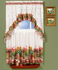 White French Country Kitchen Curtains by Country Kitchen Curtains Link Kitchen With Each Other Perfectly