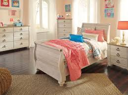 North Shore Sleigh Bedroom Set by Willowton Whitewash Youth Sleigh Bedroom Set From Ashley Coleman