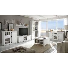 details zu wohnzimmer wohnwand set weiß sideboard couchtisch led vitrine tv schrank kommode