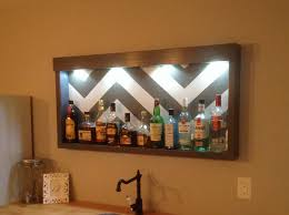 Inexpensive Liquor Cabinet/ Shelf - 2x4's Glued And Screwed ... Best 25 Wall Mounted Table Ideas On Pinterest Restaurant Design Fniture Wonderful Granite Bar Top Support Brackets Industrial My Stupid House Building A Sturdy Half Bar Shelf Unit Wine Glass Shelves Mount Vintage Rustic Brass Bracket Hdware Shelving Brackets In Kitchen Kitchen Outstanding Countertop For Your Diy Build Album Imgur