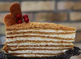 honey cake russian medovik