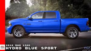 2018 Ram 1500 Hydro Blue Sport Pickup Truck - YouTube