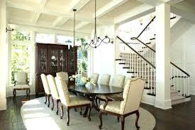 Transitional Dining Room Ideas Chandelier