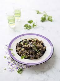 cuisine coriandre salade d aubergines au cumin et coriandre fraîche recettes de