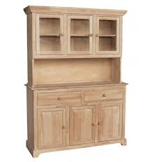 54 Inch Shaker Buffet And Hutch Wood You Furniture Anderson Sc