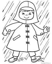 Does It Rain A Lot Where You Live Write To Your Sponsored Child About The Weather And Send Them One Of These Spring Coloring Pages