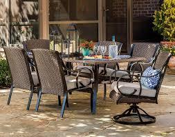 Sears Harrison Patio Umbrella by Sears 260 99 Garden Oasis 7 Pc Dining Set U0026 La Z Boy Deals