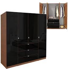 Ameriwood Storage Armoire Cabinet by Black Closet Wardrobe Roselawnlutheran