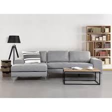 tissu canapé canapé d angle canapé en tissu gris clair kiruna achat