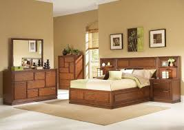 Modern Brown Wood Bedroom Furniture Set With Extra Storage Of Interior Design Beige