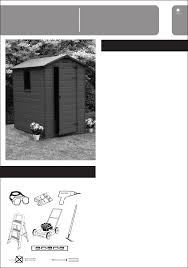 Keter Manor 4x6 Storage Shed by Keter 212917 Instructions Assembly