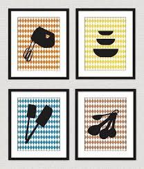 Modern Retro Kitchen Wall Art Prints