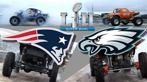 Trucks Gone Wild Predict Super Bowl Winner With A Mega Truck Tug-of ...