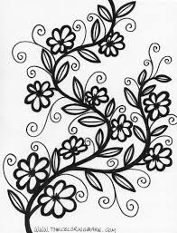 Floral Colouring Book Flower Coloring Pages Kids