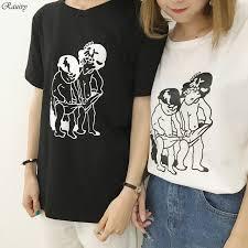 Bts 2018 Vintage T Shirts Korean Summer Harajuku Shirt Fashion Retro Funny Cute Cartoon Characters