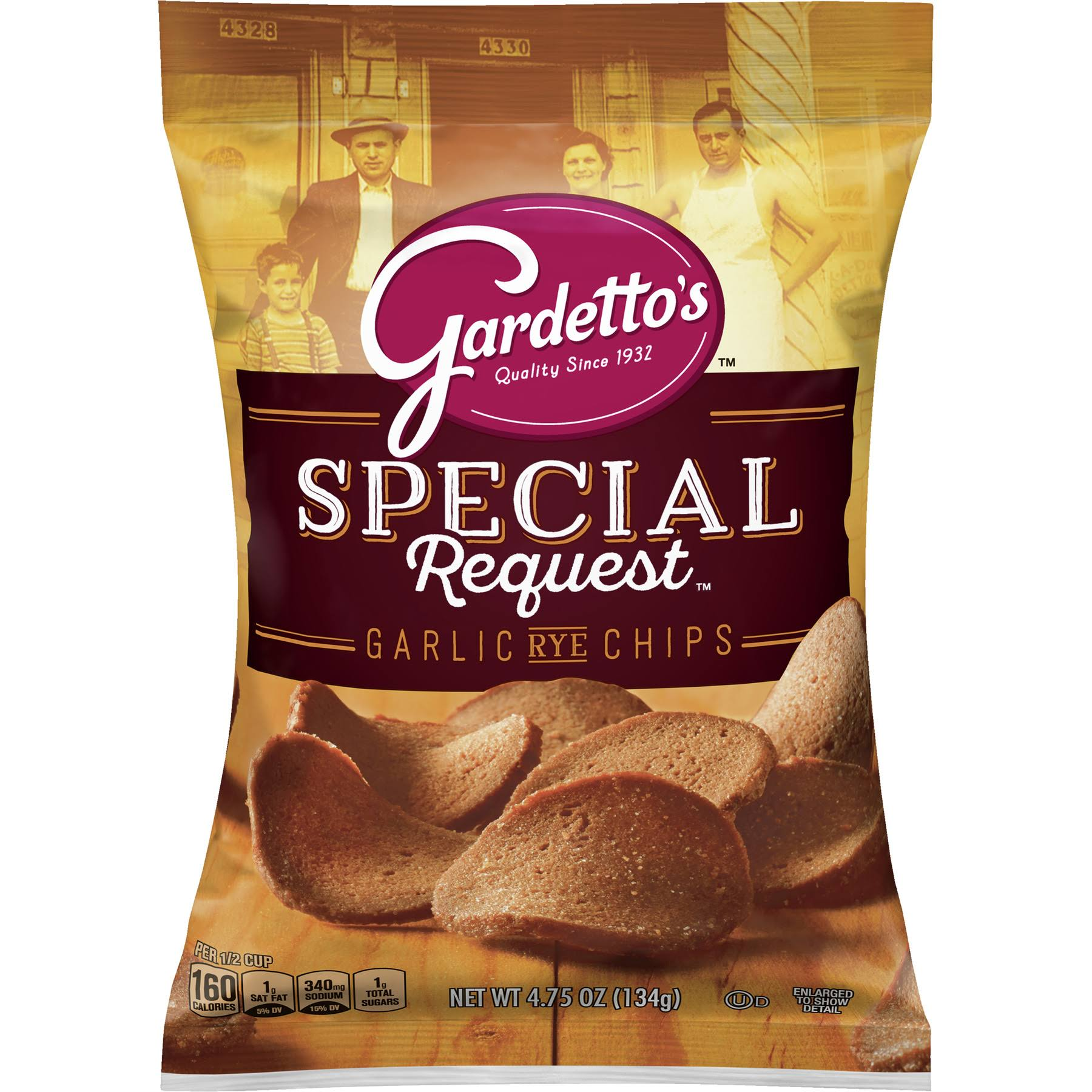 Gardettos Special Request Roasted Garlic Rye Chips - 4.75oz