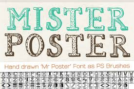 Hand Drawn Mr Poster Font Brushes Is A Unique Set Of