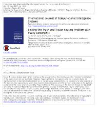 PDF) Solving The Truck And Trailer Routing Problem With Fuzzy ... Routexl Primethought Software Solutions Effective Delivery Truck Route Planning Workwave Martinbrower Implements Paragon Routing Software Routing And More Exciting News From Build 2017 Maps Blog Features Trucklogics Trucking Management For Owner Operators Full Load Lis Ag Addrses Challenges Of Evs Use A Route Planner Upgrade Your Delivery Operations Open Source Vehicle Planning Scheduling Youtube Opmization Quintiq