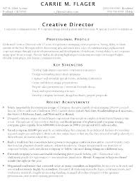 Sample Art Resume Creative Director Resumes Samples Marketing Examples Associate
