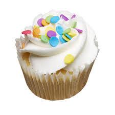 two bite Vanilla Cupcake