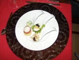 feine löffelvorspeise amuse gueule gruß aus der küche