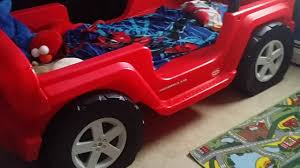 Jeep Wrangler Bed - YouTube Bedroom Awesome Toys R Us Toddler Bed Amazon Delta Fire Truck Beds For Boys Nursery Ideas Best Choices Step2 Corvette Convertible To Twin With Lights Red Gigelid Sewa Mainan Anak Rideon Mobil Little Tikes Cozy Coupe Cars Stickers For Toddler Bed Mygreenatl Bunk Cool Decor Theme Kids Kidkraft Firefighter Car Reviews Wayfair Firetruck Loft Bedbirthday Present Youtube