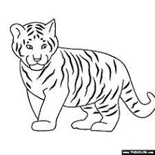 Baby Tiger Coloring Page