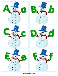 Snowmen Letter Matching preKautism
