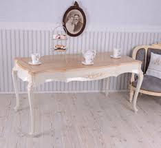 esstisch landhausstil tisch weiss esszimmertisch vintage antik