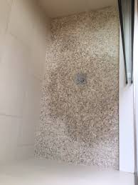 how do seal this mini pebble shower floor