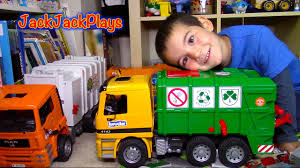 100 Garbage Truck Video Youtube Bruder MB Surprise Toy UNBOXING Playing Recycling