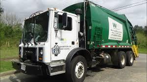 100 Waste Management Garbage Truck Mack MR McNeilus Rear Loader Trash YouTube