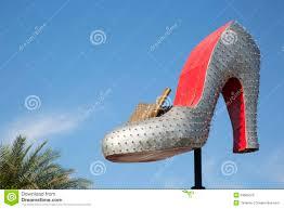 big shoe at downtown las vegas entrance editorial photo