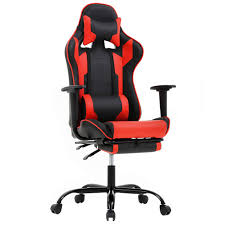 Office Chair Gaming Chair Ergonomic Swivel Chair High Back Racing Chair,  With Footrest, Lumbar Support And Headrest