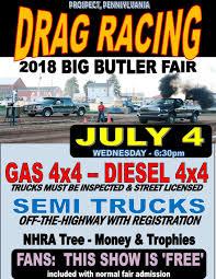 100 Big Truck Drag Racing BIG BUTLER FAIR WEDNESDAY TRUCK SEMI DRAG RACING Full Pull