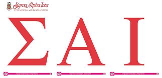 Sigma Alpha Iota Jumbo Letter Decals SororityShop