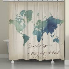 Watercolor Wanderlust Shower Curtain – Laural Home